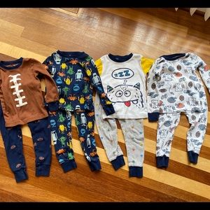 4 Carters cotton pajamas sets 2T
